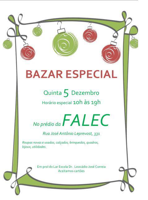 Bazar Especial Falec