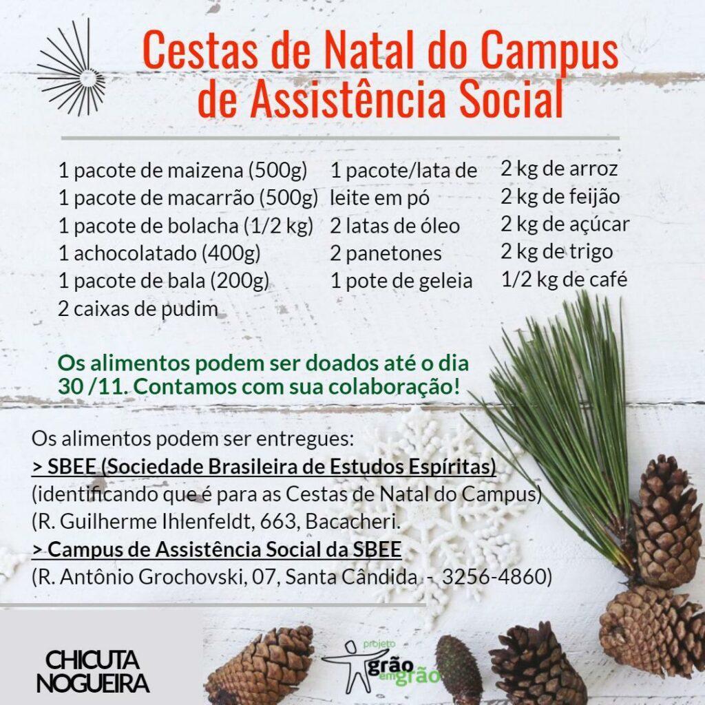 Natal do Campus de Assistência Social da SBEE